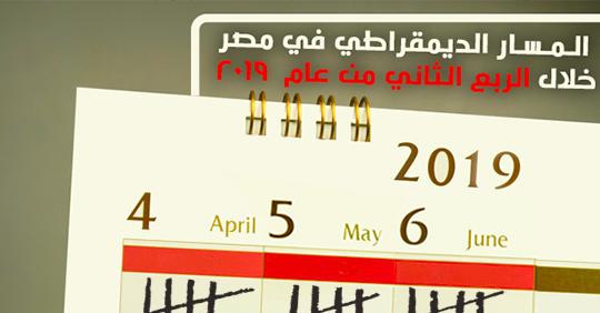 المسار الديمقراطي في مصر خلال الربع الثاني من عام  2019