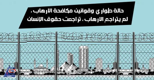 حالة طوارئ وقوانين مكافحة الارهاب ،  لم يتراجع الارهاب ، تراجعت حقوق الإنسان