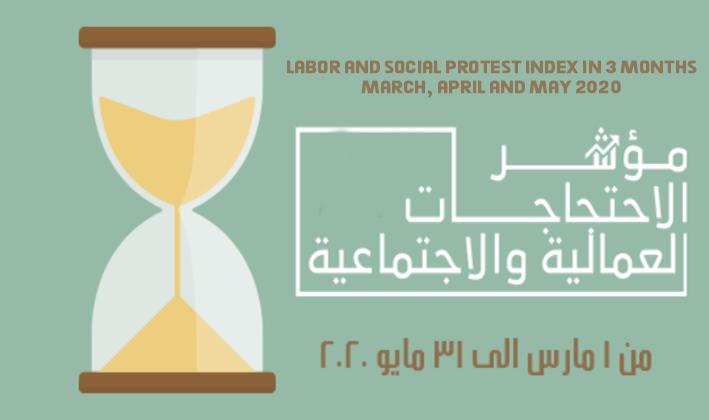 مؤشر الاحتجاجات العمالية والاجتماعية في 3 شهور مارس وأبريل ومايو 2020