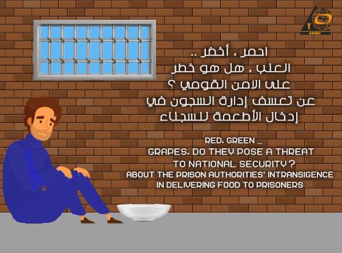 احمر ، أخضر ..  العنب ، هل هو خطر على الامن القومي ؟  عن تعسف إدارة السجون في إدخال الأطعمة للسجناء