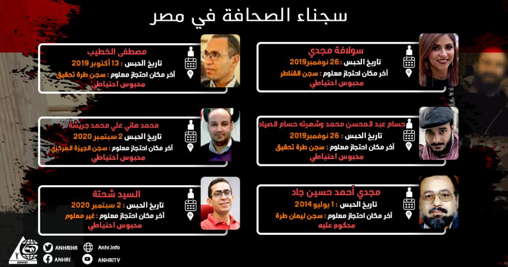 القائمة الرابعة و تشمل عدد 6 #صحفيين #محبوسين_احتياطيا