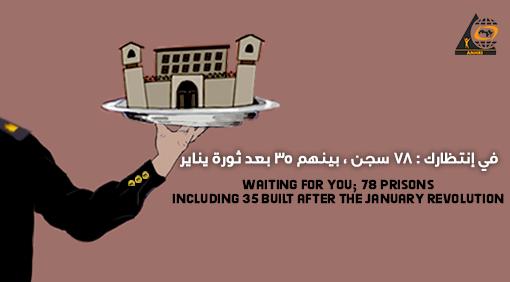 """في إنتظارك : 78 سجن ، بينهم 35 بعد ثورة يناير  """" عن الأوضاع  الصعبة للسجناء والسجون في مصر """""""