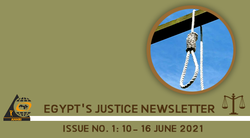 Egypt's Justice Newsletter Issue No. 1: 10- 16 June 2021