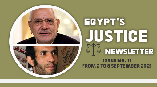 Egypt's Justice Newsletter Issue No. 11 : From 2 to 8 September 2021